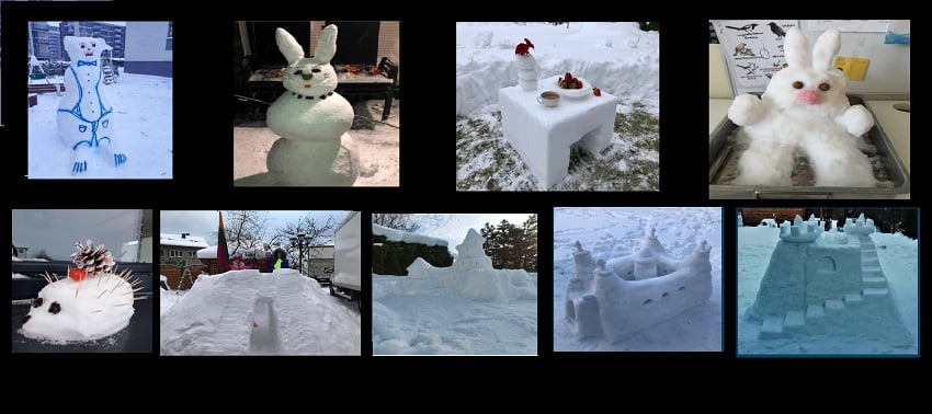 Žiemos skulptūra – laimėtojai